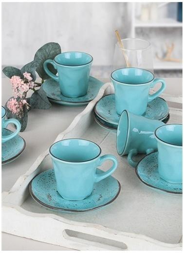 Keramika Kahve Takımı Turkuaz